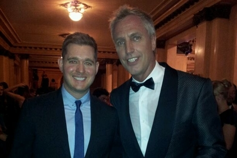Junto a Michael Buble